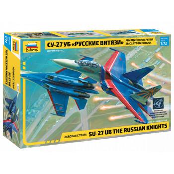 """zv7277 Самолет """"Су-27УБ"""" """"Русские витязи"""""""