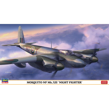 H02198 Hasegawa Британский истребитель-бомбардировщик De Havilland Mosquito NF Mk.XIII ночной (1:72)