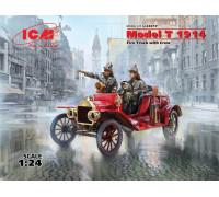 Model T 1914 Fire Truck с экипажем