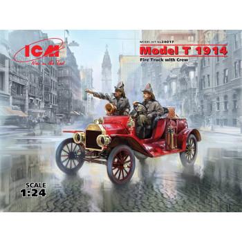 Model T 1914 Fire Truck с экипажем сборная модель
