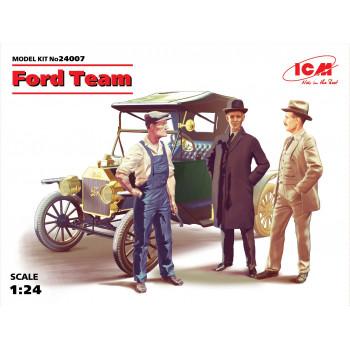 Команда Форда, набор фигур и автомобиль Model T 1913 Roadster сборная модель
