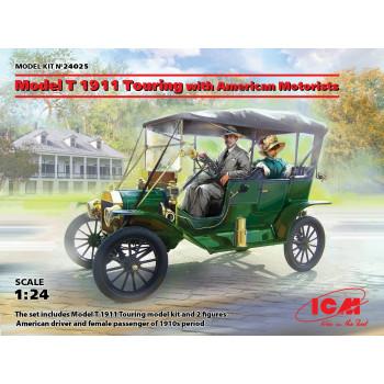 Model T 1911 Touring c американскими автолюбителями сборная модель