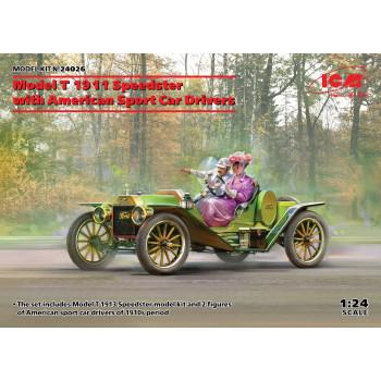 Model T 1913 Speedster с американскими автоспортсменами сборная модель