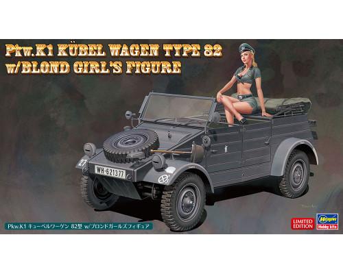 H52253 Hasegawa Автомобиль Pkw.K1 Kubelwagen Type 82 с фигурой блондинки (1:24)
