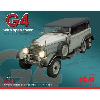 Typ G4 с раскрытым тентом, Германский пассажирский автомобиль ІІ МВ сборная модель