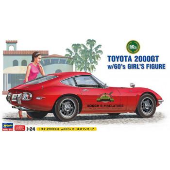 H52166 Автомобиль TOYOTA 2000GT w/GIRL'S FIGURE, 1/24