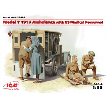 Model T 1917 санитарная, с американским медицинским персоналом сборная модель