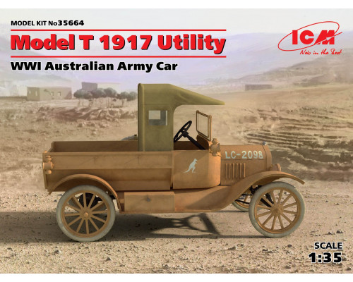 35664 ICM Model T 1917 Utility, Армейский автомобиль Австралии І МВ, 1/35