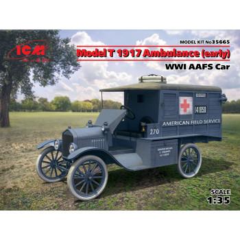 МодельT 1917 г. санитарная (раннего выпуска), Автомобиль американской санитарной службы IМВ сборная модель