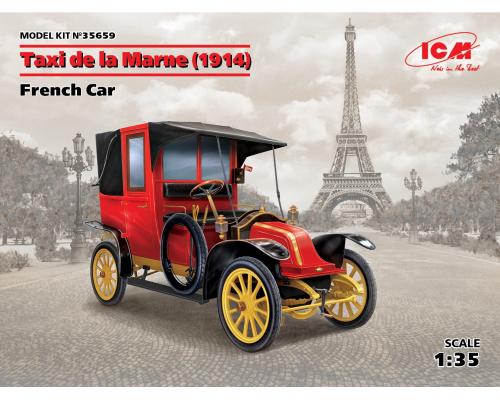35659 ICM Марнское такси (1914 г.), Французский автомобиль, 1/35