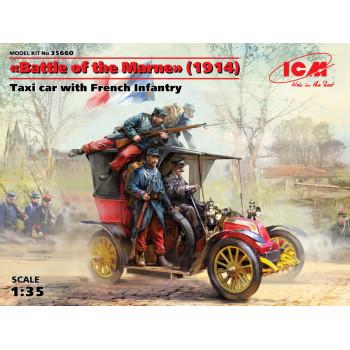 """""""Битва на Марне"""" (1914 г.), Автомобиль такси с французской пехотой сборная модель"""