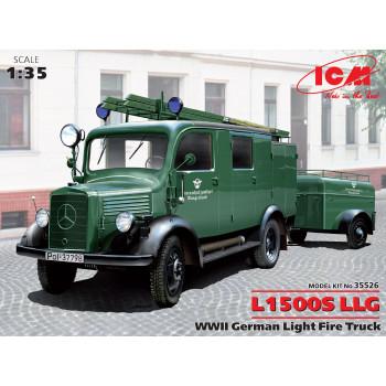 L1500S LLG - Германская легкая пожарная машина, 2МВ сборная модель