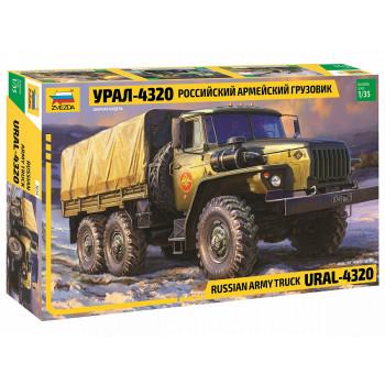 zv3654 Российский армейский грузовик Урал-4320
