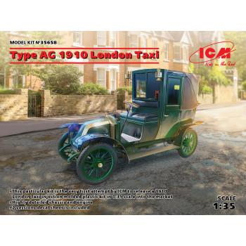 Лондонское такси тип AG 1910 сборная модель