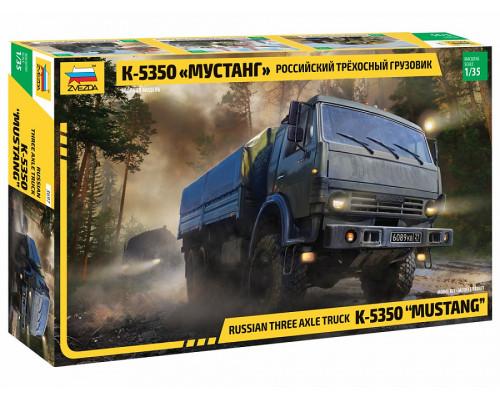 """Российский трехосный грузовик К-5350 """"Мустанг"""""""