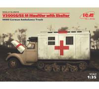 V3000S/SS M Maultier с санитарной будкой, Германский санитарный автомобиль ІІ МВ