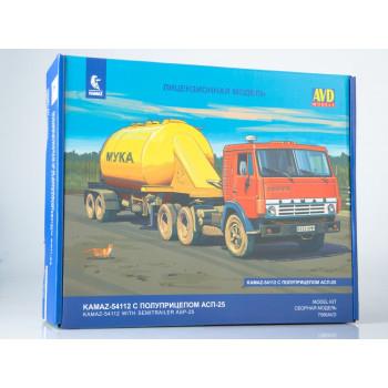 7066AVD Сборная модель КАМАЗ-54112 с полуприцепом АСП-25