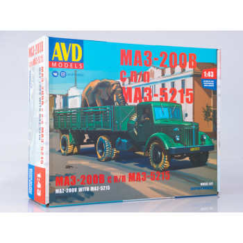 7057AVD Сборная модель МАЗ-200В с полуприцепом МАЗ-5215