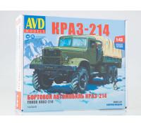 Сборная модель КРАЗ-214 бортовой с тентом