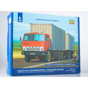 7064AVD Сборная модель КАМАЗ-53212 контейнеровоз с прицепом ГКБ-8350