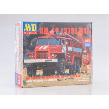 1298AVD Сборная модель Пожарная цистерна АЦ-40(375)Ц1А