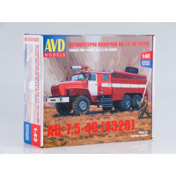 1299AVD Сборная модель Пожарная цистерна АЦ-7,5-40 (4320)