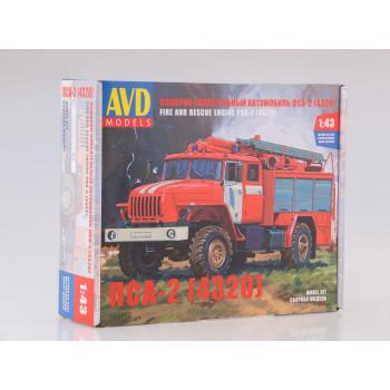 1301AVD Сборная модель Пожарно-спасательный автомобиль ПСА-2 (4320)