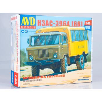 1383AVD Сборная модель Вахтовый автобус НЗАС-3964 (66)