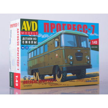 1415AVD Сборная модель Штабной автобус Прогресс-7