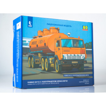 7061AVD Сборная модель КАМАЗ-54112 с полуприцепом НЕФАЗ-96742