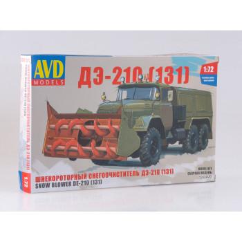 1292AVD Сборная модель Шнекороторный снегоочиститель ДЭ-210 (131)