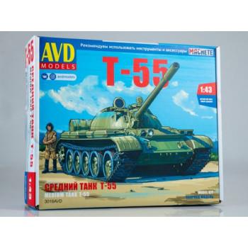 3018AVD Сборная модель Средний танк Т-55