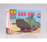 Сборная модель Большой автомобиль водоплавающий БАВ-485