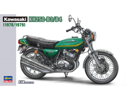 H21508 Hasegawa Мотоцикл Kawasaki KH250-B3, B4 (1978, 1979) (1:12)