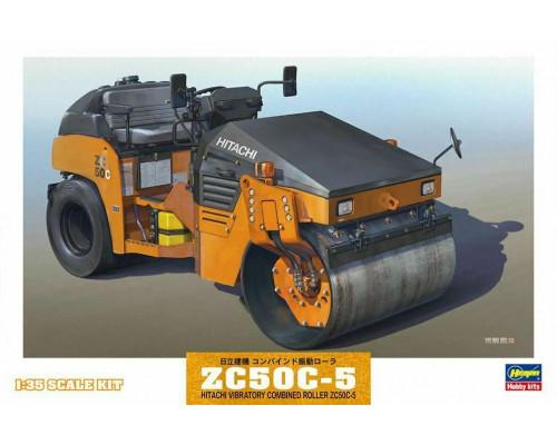 H66002 Hasegawa Каток Hitachi vibratory combined roller zc50c-5 (1:35)
