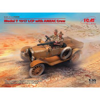Model T 1917 LCP с экипажем ANZAC сборная модель