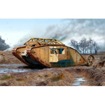 """Британский танк MK I """"Самец"""", период Битвы на Сомме, 1916 сборная модель"""