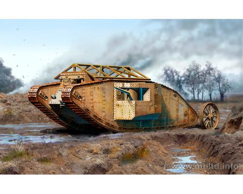 """Британский танк MK I """"Самец"""", период Битвы на Сомме, 1916"""