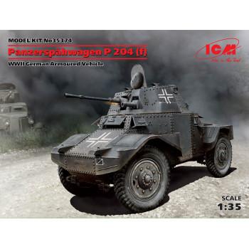 Panzerspahwagen P 204 (f), Германский бронеавтомобиль ІІ МВ сборная модель