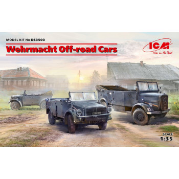 Внедорожные автомобили Вермахта (Kfz.1, Horch 108 Typ 40, L1500A) сборная модель