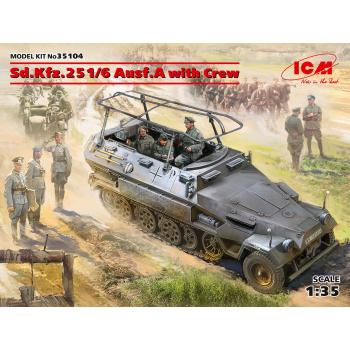 Sd.Kfz.251/6 Ausf.A с экипажем сборная модель