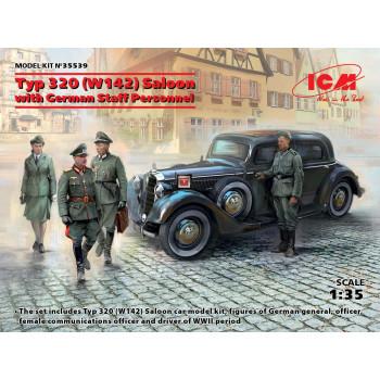 35539 ICM Тип 320 (W142) седан с германским штабным персоналом, 1/35