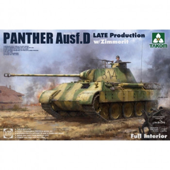 2104 1/35 Panther Ausf. D Late Production w/ Zimmerit Full Interior Kit