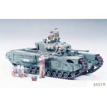Английский тяжелый пехотный танк Mk.IV Churchill Mk.VII с 3 фигурами танкистов и 1 фигурой угощающего фермера