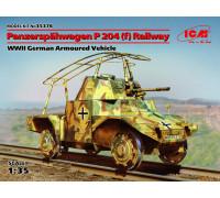 Panzerspähwagen P 204 (f) железнодорожный, Германский бронеавтомобиль ІІ МВ