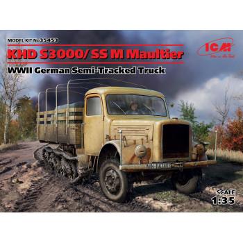 KHD S3000/SS M Maultier, Германский полугусеничный грузовой автомобиль ІІ МВ сборная модель