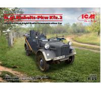 35583 ICM le.gl.Einheitz-Pkw Kfz.2, Германский легкий автомобиль радиосвязи II МВ, 1/35
