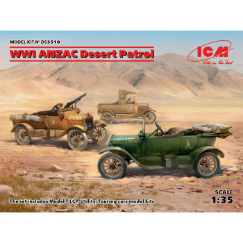 «Пустынный патруль» ANZAC (Model T LCP, Utility, Touring) сборная модель
