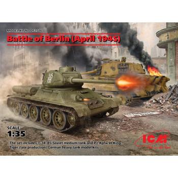 Битва за Берлин (апрель 1945 г.) (T-34-85, King Tiger) сборная модель