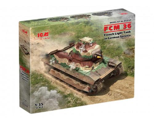 35337 ICM FCM 36, Французский легкий танк на службе Вермахта, 1/35